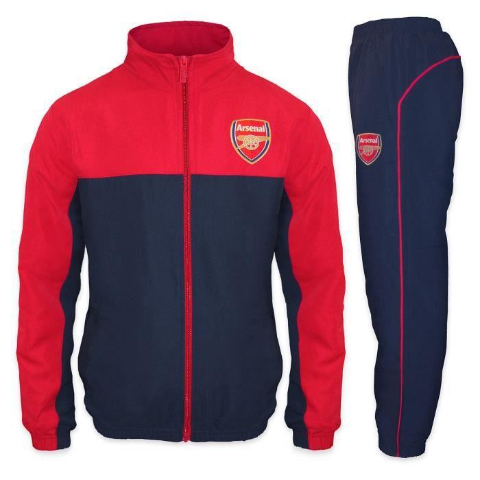 th/ème football//motif blason//polaire Pantalon de jogging avec coupe ajust/ée gar/çon Arsenal FC officiel