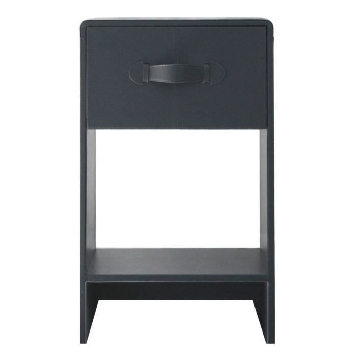 Table de chevet gris brun for Table de chevet noire