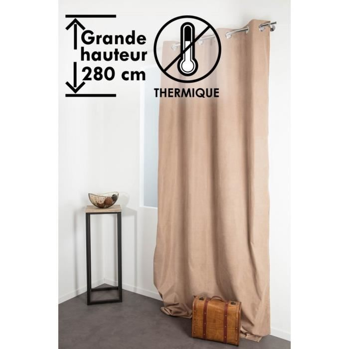 RIDEAU Rideau Occultant Thermique Anti-Froid 135 x 280 cm