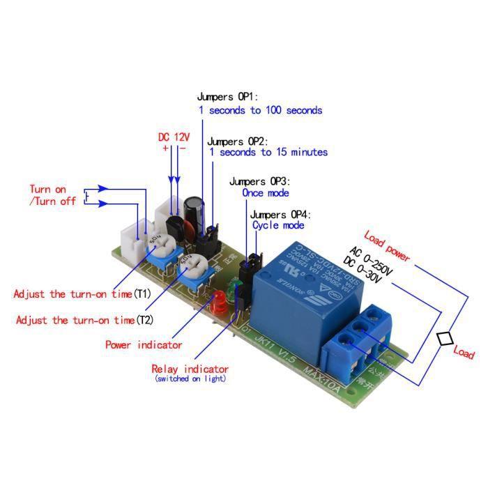 Retard de 0 /à 10 Minutes YoungerY 1pc minuterie de Module de Relais de temporisation 220V
