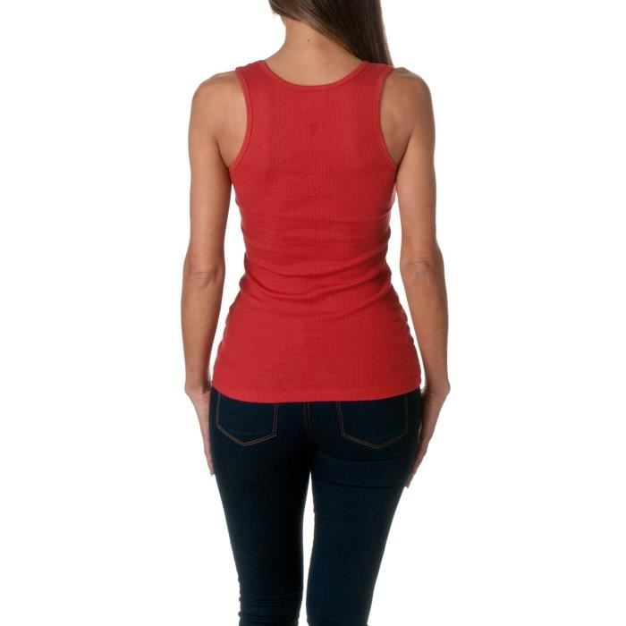 Women's Top Taille Cotton Tank Ribbed G8fl6 34 1TPqA1n