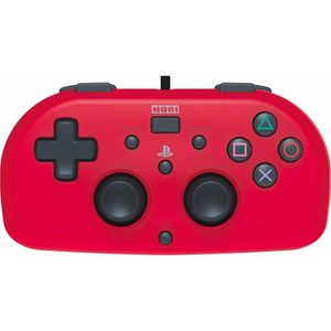 MANETTE JEUX VIDÉO Hori Mini Manette Filaire Rouge Pour PS4 - Licence
