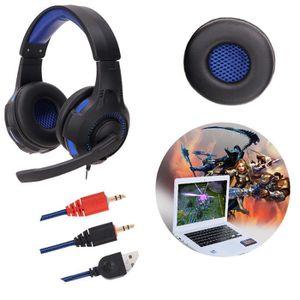 CASQUE AVEC MICROPHONE Casque d'écoute Stéréo Surround avec casque pour c
