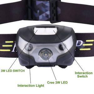 LAMPE FRONTALE MULTISPORT Headlamp Lampe de poche Lampe Frontale LED Recharg