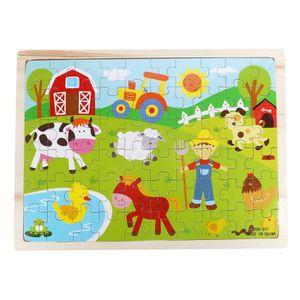 PUZZLE Puzzle  ferme en bois Puzzle éducatif développemen