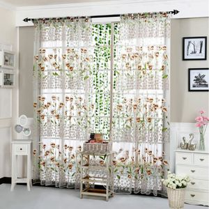 RIDEAU yzw-5089-Morning Glory Sheer Curtain Tulle Window