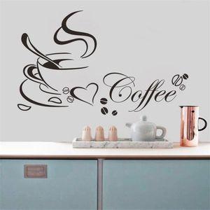 STICKERS Coupe amovible Café Cuisine Wall Sticker pour Home