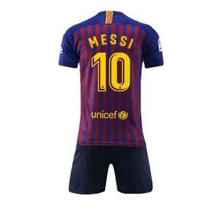 MAILLOT FOOT AMERICAIN Barca Lionel Messi Maillot et Shorts de Football E