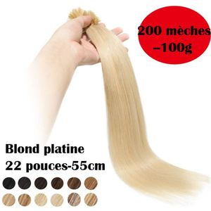 PERRUQUE - POSTICHE Extensions Keratine Pose a Chaud Cheveux Naturel 2