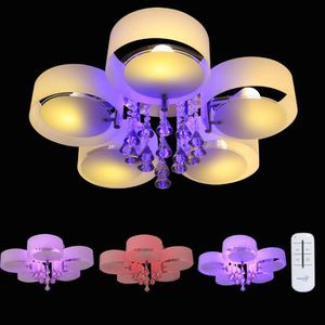 PLAFONNIER Sungle LED moderne lustre en cristal 5 acrylique l