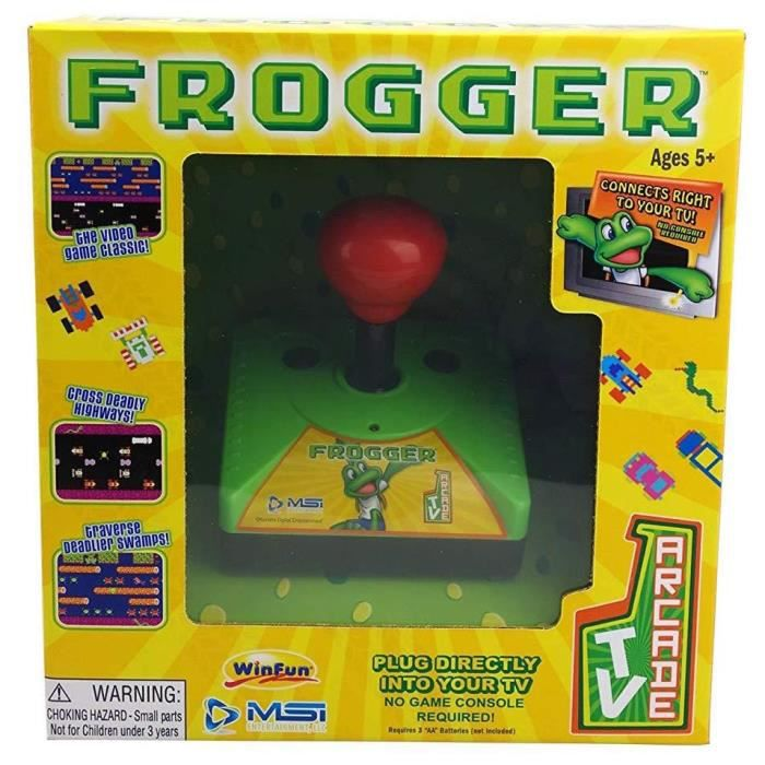 CONSOLE RÉTRO Console avec Frogger intégré TV Arcade Plug & Play