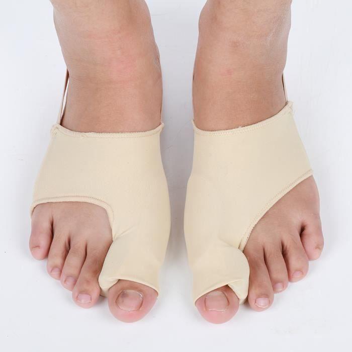 Correcteur hallux valgus amélioré Jour et nuit avec ceinture de correction pour gros orteils en os Silicone -KEL