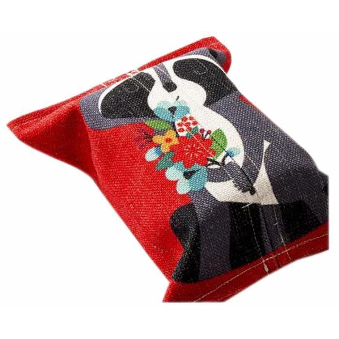 Pratique Tissu Tissus Papier toilette Porte-mouchoirs Box Rouge