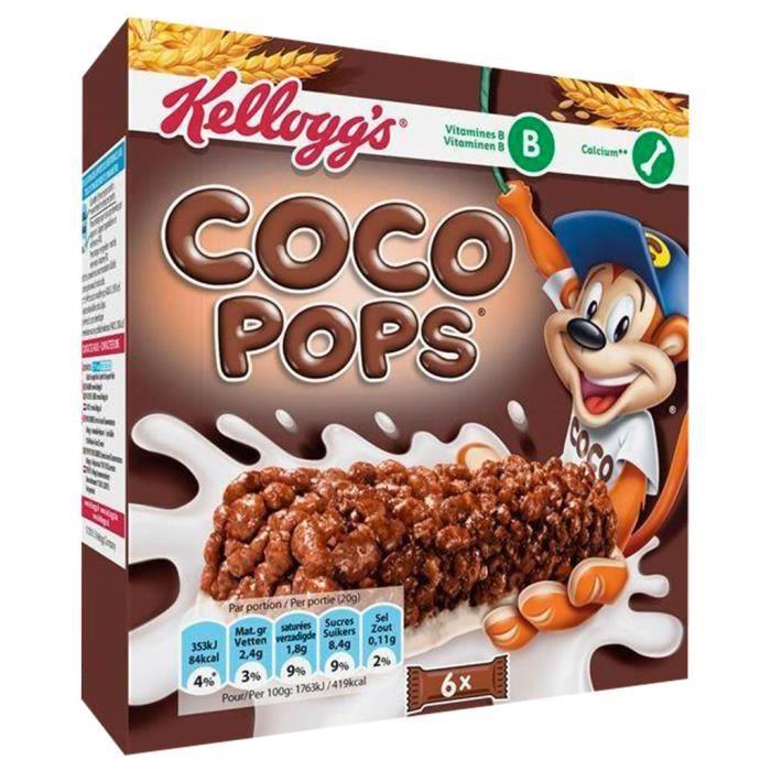 Kellogg's Coco pops - Coco Pops Barre Riz Soufflé au Chocolat au Lait 120g (lot de 3)