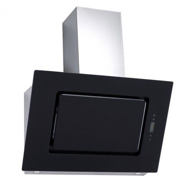 Hotte aspirante PKM 9040 / 90BZ noire -hotte de garde-robe- de 90 cm en verre noir et acier