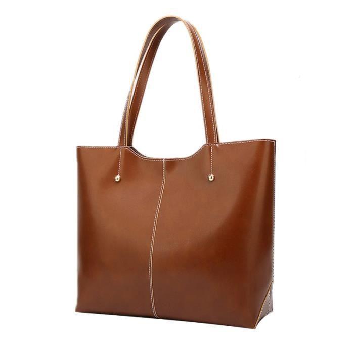 1pc sac à bandoulière élégant décontracté simple fourre-tout marron pour fille BAG