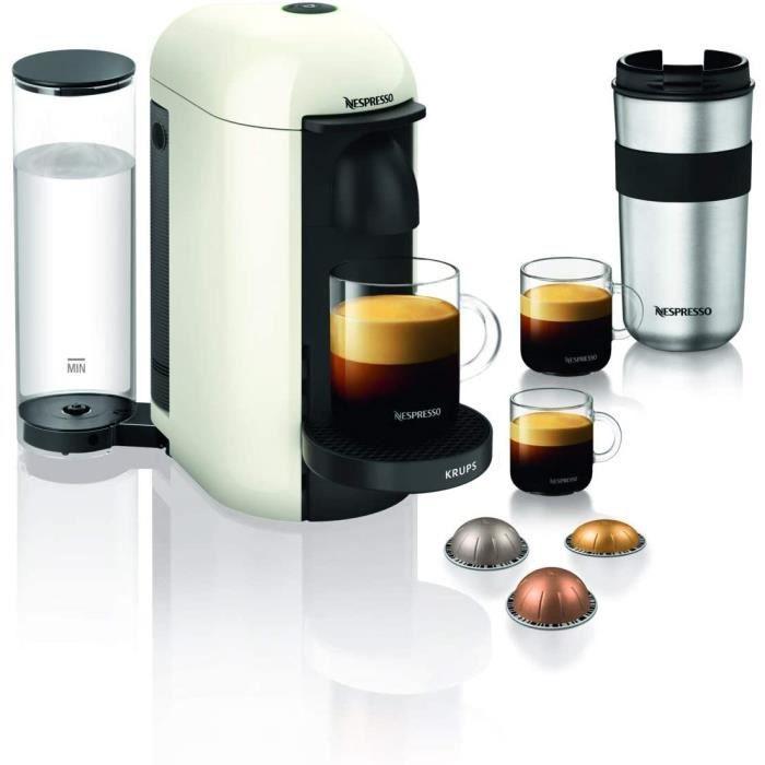 CAFETIERE Krups Nespresso Vertuo Plus Machine agrave cafeacute Reacuteservoir deau 11 l Blanc589