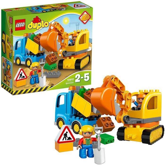 VEHICULE A CONSTRUIRE ENGIN TERRESTRE A CONSTRUIRELEGO DUPLO Ma ville - Le camion et la pelleteuse - 10812 - Jeu de constructi411