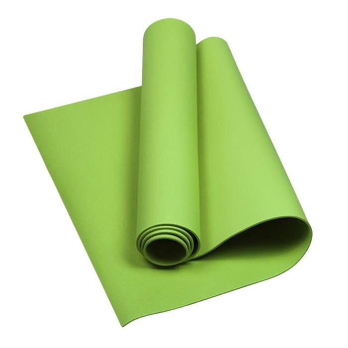 Rameng Tapis de Yoga Antidérapant Yoga Mat Pilates Fitness Sport Gym vert