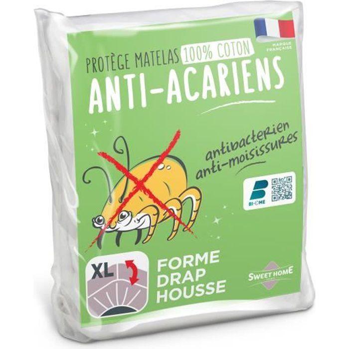 SWEETHOME Protège-matelas 100% coton - Anti-acariens - 160x200 cm