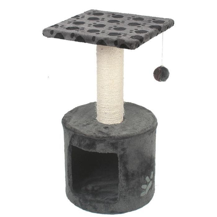 VADIGRAN Grimpoir Bongo - 30x30x59cm - Gris - Pour chat