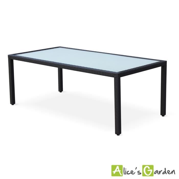 Table en r sine tress e 200cm achat vente table de jardin table en r sine tress e 200cm for Housse de table de jardin en resine