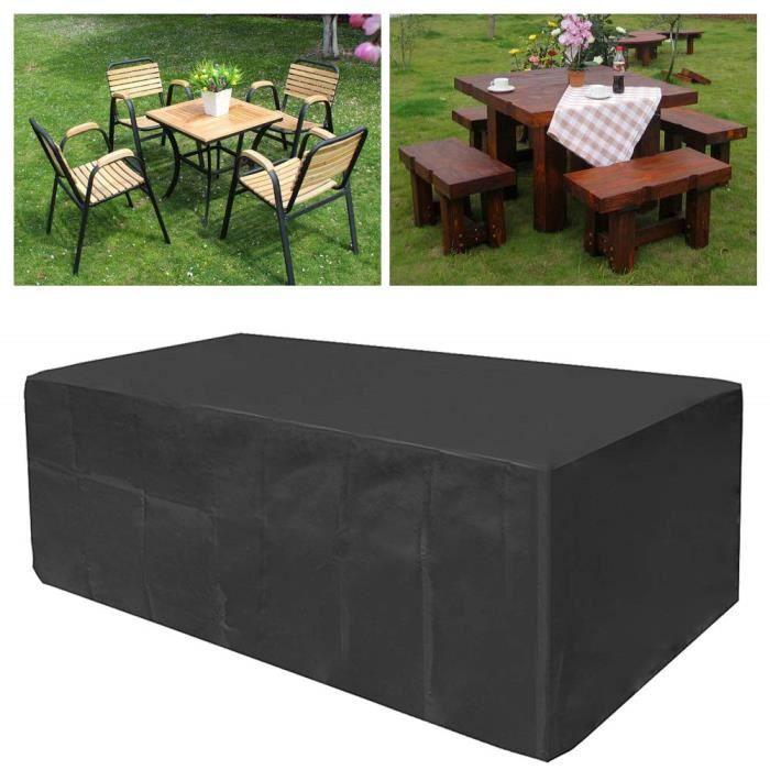 housse de protection meubles de jardin materiaux en tissu oxford impermeable pour table a l exterieur patio jardin chaises 200x160x7