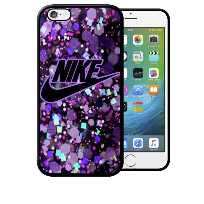 Coque iPhone 5 5s Nike Just do it Glitter Violet
