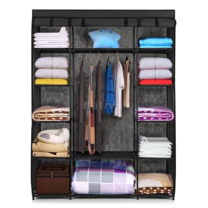 penderie meuble armoire rangement linge vetement hanging. Black Bedroom Furniture Sets. Home Design Ideas