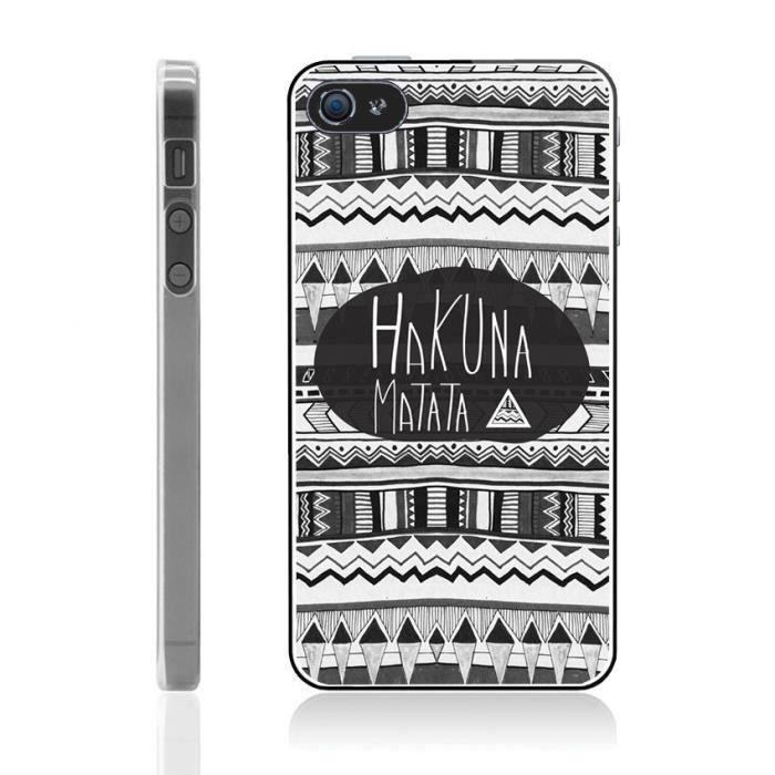 Coque iPhone 5-5S Hakuna Matata - Azteque - Achat coque - bumper ...