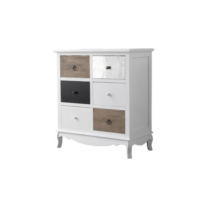 commode laque blanc 6 tiroirs achat vente commode. Black Bedroom Furniture Sets. Home Design Ideas