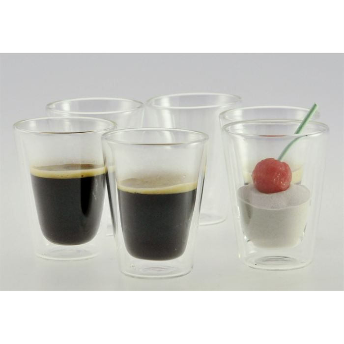 lot 6 tasses double paroi jody chris achat vente service th caf cdiscount. Black Bedroom Furniture Sets. Home Design Ideas