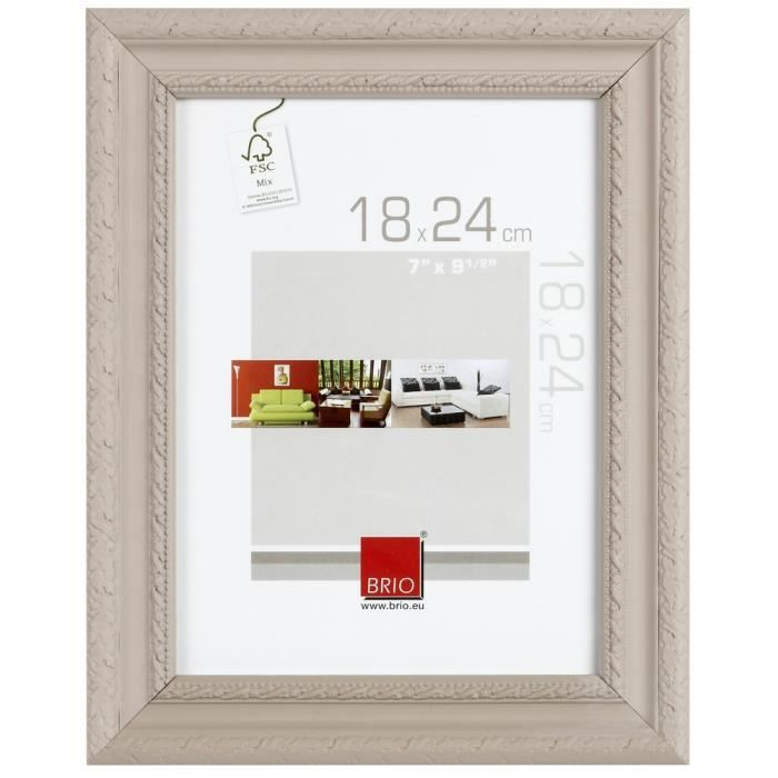 brio cadre photo flanella beige 30x40 cm achat vente cadre photo pin cdiscount. Black Bedroom Furniture Sets. Home Design Ideas