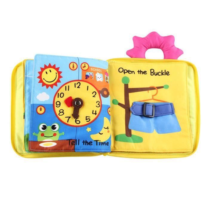 4pcs Livre Bebe Chiffon Doux Adapte Pour 3 Mois A 6 Ans Les Enfants Version Anglaise