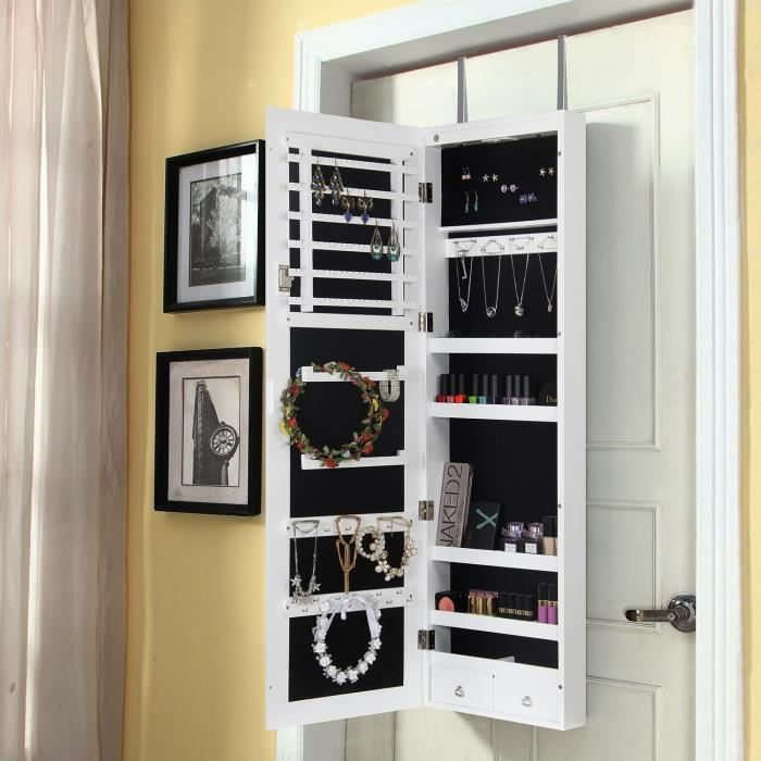 lifewit armoire bijoux armoire murale et accrochable. Black Bedroom Furniture Sets. Home Design Ideas