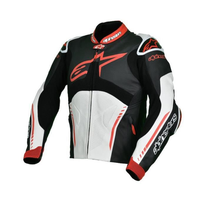 blouson de cuir alpinestars atem rouge blanc achat vente blouson veste blouson de cuir. Black Bedroom Furniture Sets. Home Design Ideas