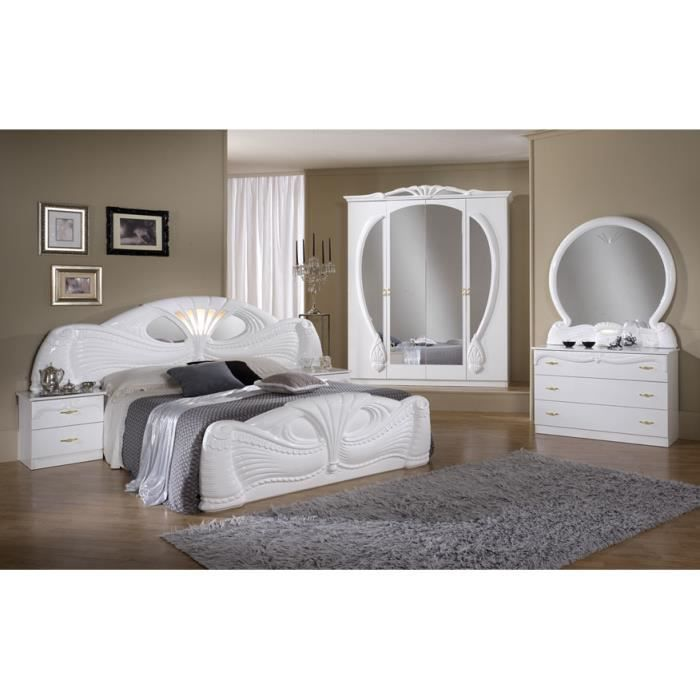 chambre a coucher complete modele pamela marron achat vente chambre compl te chambre a. Black Bedroom Furniture Sets. Home Design Ideas