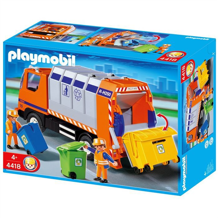playmobil camion recyclage ordures achat vente univers. Black Bedroom Furniture Sets. Home Design Ideas