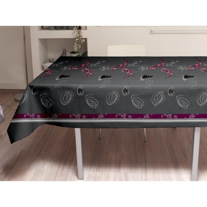 nappe toile cir e rectangle 140x240 cm galet nappe toile. Black Bedroom Furniture Sets. Home Design Ideas
