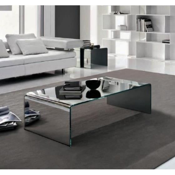 table basse bridge 100x60 verre tremp miroir achat vente table basse table basse bridge. Black Bedroom Furniture Sets. Home Design Ideas