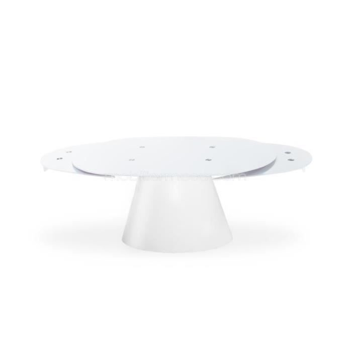 Table verre ovale pied central - Table ovale design avec rallonge ...