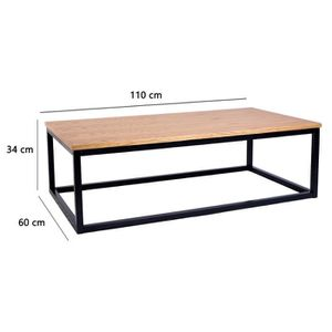 table basse metal industriel achat vente table basse metal industriel pas cher cdiscount. Black Bedroom Furniture Sets. Home Design Ideas
