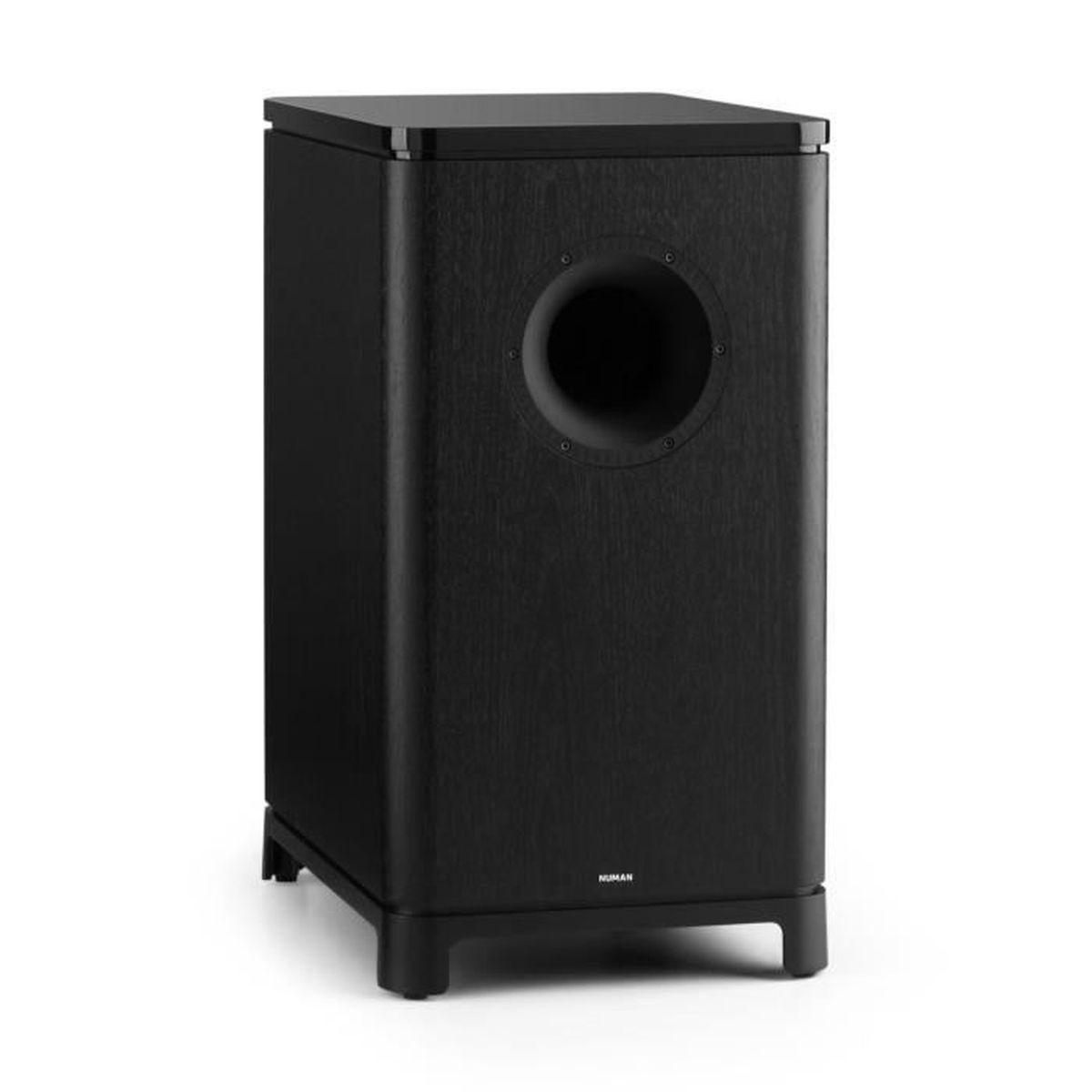 numan unisub subwoofer actif audiophile caisson de basse hifi 25 4 cm socle de pose en. Black Bedroom Furniture Sets. Home Design Ideas