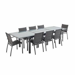 Ensemble table et chaise de jardin Salon de jardin table extensible - Philadelphie Gr