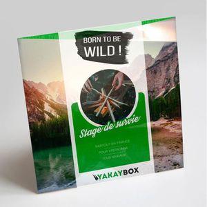 COFFRET SPORT - LOISIRS YAKAYBOX - Box Cadeau - Coffret Stage de Survie -
