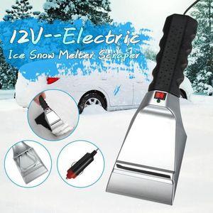 ExH Grattoir /à Glace pour Voitures Chargement USB grattoir de Pare-Brise d/écapant /à Neige grattoir /à Glace /électrique grattoir de Pare-Brise Hiver Auto Voiture fen/être Pare-Brise d/éneigeur d/égivreur
