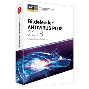 ANTIVIRUS BITDEFENDER Antivirus Plus 2018 - 1 an - 1 PC