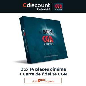 SPECTACLE Box 14 places de cinéma CGR - Valables dans l'ense