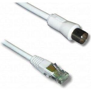 CÂBLE RÉSEAU  Cable spécial VDI, TV 9,5mm mâle / RJ45 mâle, 2m00