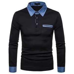 3 Homme Weekend Offender neige Carreaux Col Polo Shirt Dans Anthracite-Manches courtes